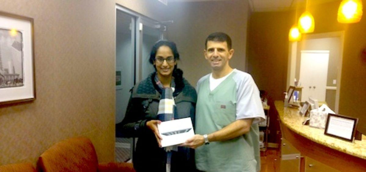 Rupa B. 4th Quarter iPad Mini Winner