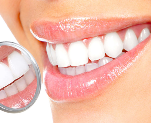White Teeth with Mirror