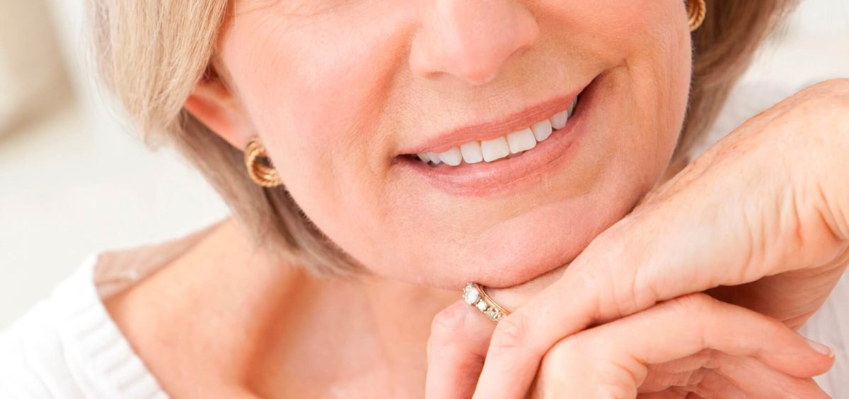 Older Woman Smiling with Beautiful Teeth