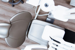 Looking down into a dentists chair